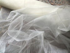 Retro Ivory Mirror Organza Sheer Fabric Dresses Petticoats Veils Interiors etc