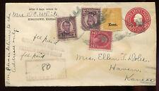 #661(2) 668 Kansas Overprint Stamps On Registered Return Receipt Cover PH4120