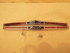 1965 65 Chevy Chevrolet Impala Belair Chrome Pair Hood & Trunk Emblem Assembly