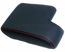 Armrest Cover for 92-99 BMW E36,325,328,323 Leather Center Console w/Red Stitch