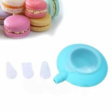 Cream Nozzle Pastry Macaron 3 Nozzles Baking Kit Mould Silicone Decorating Pen