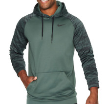 NIKE Men's Thermal Pullover Training Hoodie Vintage Green/Black Size 4XL Tall