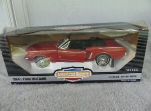 ERTL American Muscle 1964 1/2 Ford Mustang Convertible 1:12 Scale Diecast NIB