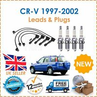 For Honda CRV 2.0i 16v 1997-2002 HT Ignition Leads & 4 Spark Plugs New
