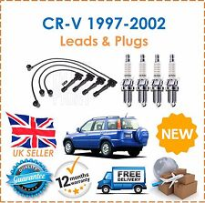 For Honda CRV 2.0i 16v 1997-2002 HT Ignition Leads & 4 Spark Plugs New
