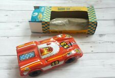 Vintage Joustra french tinplate friction red racing car