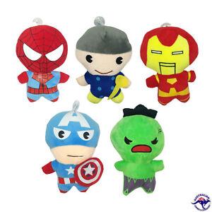 5 Pack 20CM Avengers Plush Soft Toy Plushie Ironman Thor Spiderman Hulk Captain