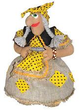 "Tea Cozy Teapot Cover Textile Doll Made in Russia 100% Cotton Baba Yaga 18"""