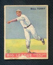 1933 GOUDEY # 20 BILL TERRY GIANTS FR-GD 383333 SET BREAK (KYCARDS)