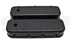 Nostalgic Big Block Chevy BLACK Aluminum Tall Valve Covers 396 427 502 smooth
