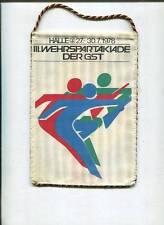 DDR: tavolo bandiera: GST Halle. III. wehrspartakiade 1978.20 cm