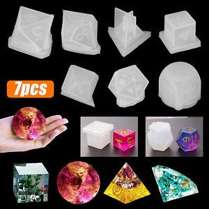 Dice Digital Mold Silicone Epoxy Mould Triangle Multi-Square Shape Game DIY Set