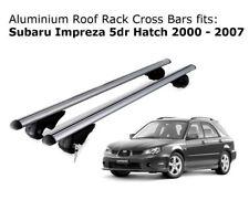 Aluminium Roof Rack Cross Bars fits Subaru Impreza Hatch with roof rails 00-07