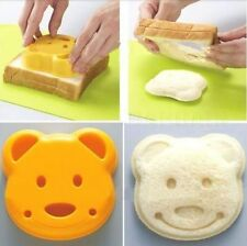 Japan Cute Bear Sandwich Bread Stamp Dessert Rice Toast Mold Cutter DIY Tool Kit