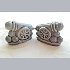2 Confederate Gray Cannon Figurines by Wade England-Red Rose Tea. Good condition