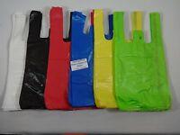 "T-Shirt Bag Plastic w/ Handles 8"" x 5"" x 16"" Variety of Qty.& Colors Retail"