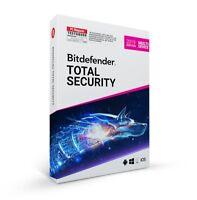 Bitdefender Total Security 2019 Multi-Device 5 Geräte PC - 3 Jahre Key / Lizenz