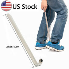 20'' Extra Long Handle Shoe Horn Stainless Steel  Handled Metal Shoehorn Horns