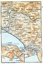 Sestri Levante Moneglia Lavagna 1928 picc. carta Riva Levante Carasco Chiavari