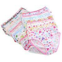6pcs Baby Girls Underpants Soft Cotton Panties Child Kids Underwear Short Briefs