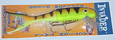 "9"" Shallow Invader Musky Innovations Muskie Pike Blaze UV Reflex Plastic Tail"