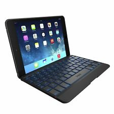 Zagg Ultra Slim Folio Case with Bluetooth Keyboard For Apple iPad Mini Black New