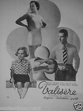 PUBLICITÉ 1936 VALISÈRE LINGERIE CHEMISERIE GANTS LA MARQUE DU TRÉFLE