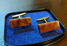 ☭ COOL VTG russian Soviet USSR  CUFFLINKS GOLD plated retro