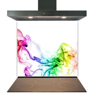 Kitchen Glass Splashback Toughened Tile Cooker Panel Any Size Coloured Smoke