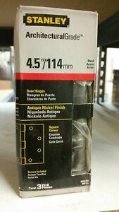 "Stanley Door Hinge S820-688 Antique Nickel Finish 4.5""/114mm READY TO SHIP!"