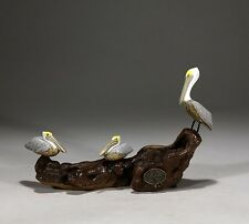 PELICAN Triad Statue New direct from JOHN PERRY 5in Long Figurine Art Decor