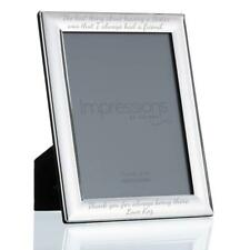 """6"""" X 8"""" Silver Plated Curved Edge Photo Frame - Custom Engraved"""