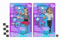 Its Girl Stuff! 30cm Fashion Doll With Cleaning Accessories - Girls Toys (HL381)