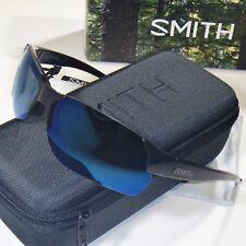 6f9451b4fa3 Smith Envoy Max Sunglasses Black Blue Mirror ChromaPop Polarized M Flak