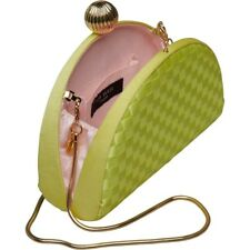 6f928f965bd02c Ted Baker Weave Bobble Detail Clutch Bag Crossbody Shoulder Bag Lime Green   Gold