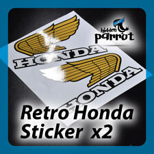 2x Laminated Retro Honda Wings Decals Stickers Motorbike Motorcycle 135mm