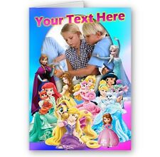 Disney Princesses Personalised Photo A5 Birthday, Special Occasions Card