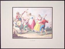 STAMPA D'ARTE - LA TARANTELLA - SAVERIO DELLA GATTA - 1823 - ED. PICCOLO PARNASO