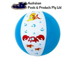 Beach Ball Swimming Pool Inflatable Blowup Holiday Garden Kids Toy crab fish