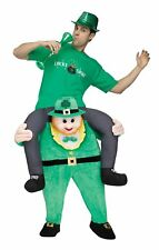 Funny Carry Me Leprechaun Adult Ride Piggy Back Costume St Patricks Day Saint