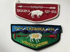 Tatanka Lodge 529 OA Flap patches Order of the Arrow Boy Scouts mint