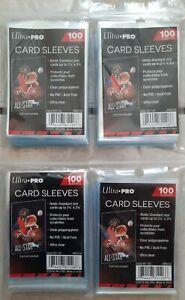 4x 100 Protèges cartes Ultra Pro Standard Sleeves Tranparente
