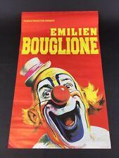 Ancienne affiche originale PAUWELS PRODUCTION PRESENTE EMILIEN BOUGLIONE CLOWN