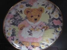 Franklin Mint  TEDDY'S SPRING BOUQUET Teddy Bear  Ltd Ed Plate