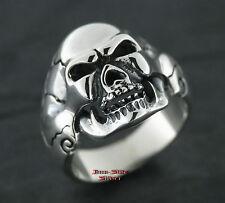 Ring Silberring Gothic TOTENKOPFRING Rockabilly Totenkopf Silber 925 Skullring
