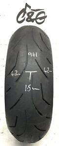 Bridgestone Battlax S20r  190/55zr17   75w Part Worn Motorcycle Tyre 961