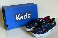 NEW! KEDS CHAMPION BIRDS OF PARADISE PRINTED NAVY BLUE SHOES SNEAKERS 6 36 SALE