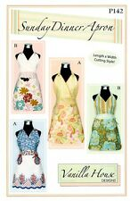 SUNDAY DINNER APRON Pattern~Vanilla House Designs P142~Fits sizes 4 to 14