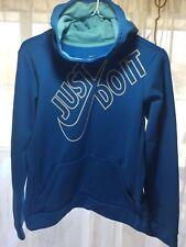 Nike Hoodie light Blue logo sweatshirt pullover youth XL  dri-fit