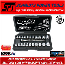 "SP TOOLS 23 PIECE 1/4"" DRIVE LOW PROFILE STUBBY SOCKET SET METRIC & SAE SP20121"